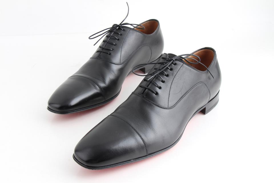 finest selection e286c feb62 Christian Louboutin Black Greggo Flat Oxfords Shoes 32% off retail