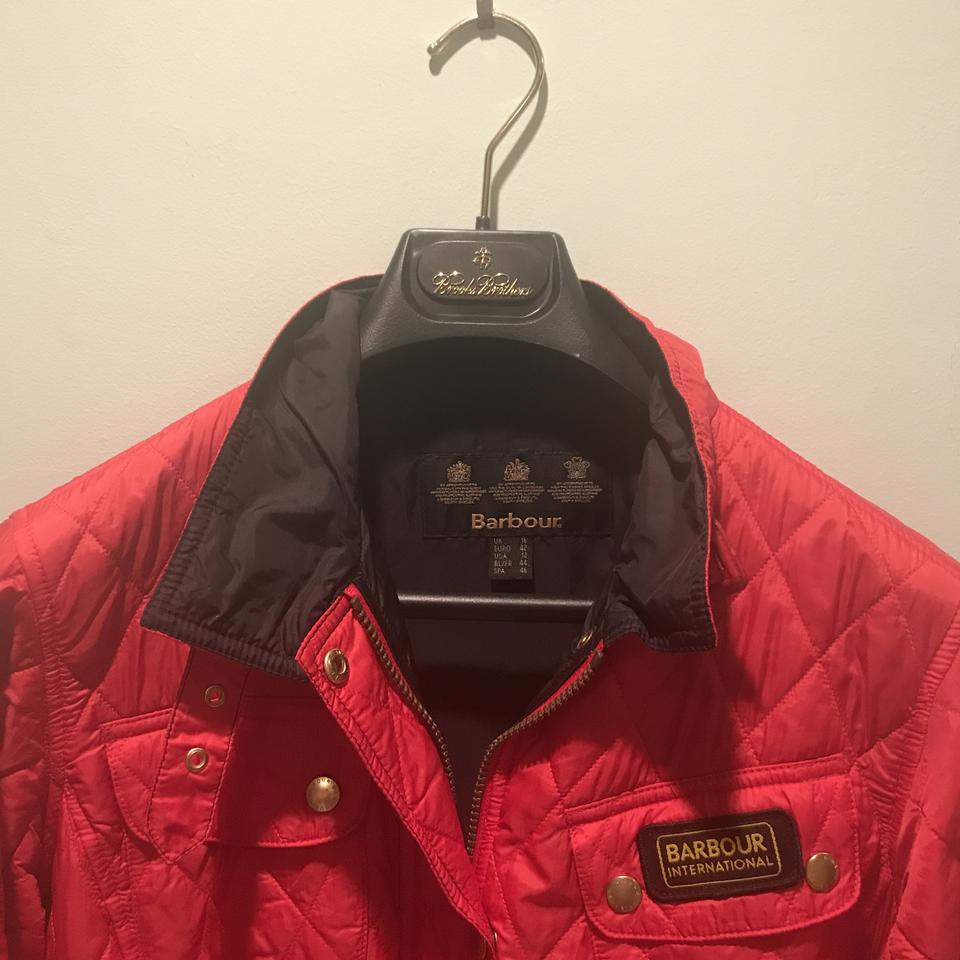 5f2a3a668b2 Barbour Red 20464289 Jacket Size 10 (M) - Tradesy