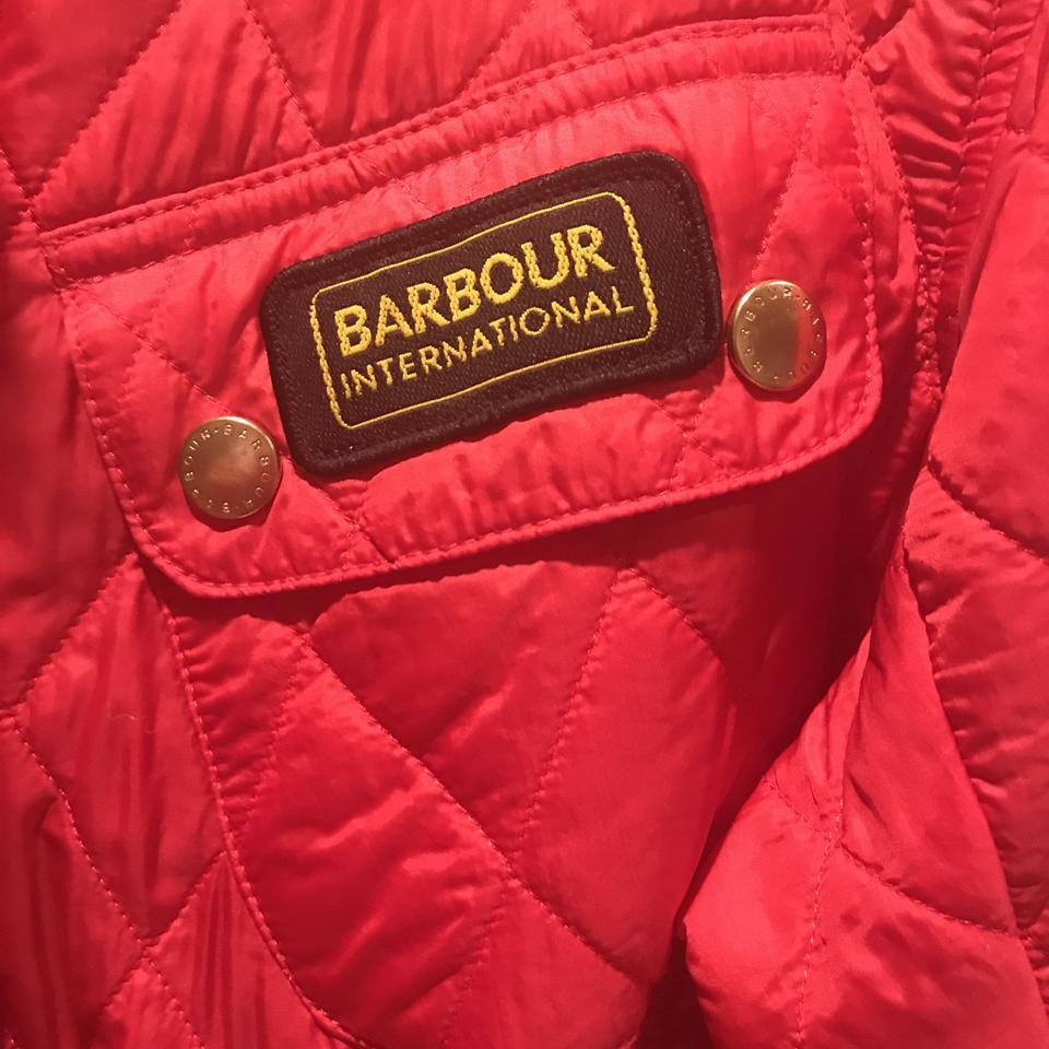 acbc94d87cd Barbour Quilted Lightweight International Red Jacket Image 4. 12345