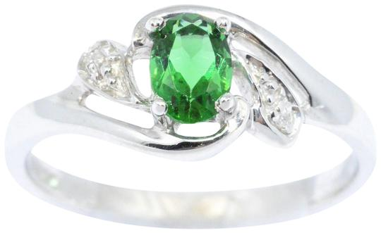 Preload https://img-static.tradesy.com/item/24432067/simulated-emerald-and-diamond-oval-925-sterling-silver-ring-0-1-540-540.jpg