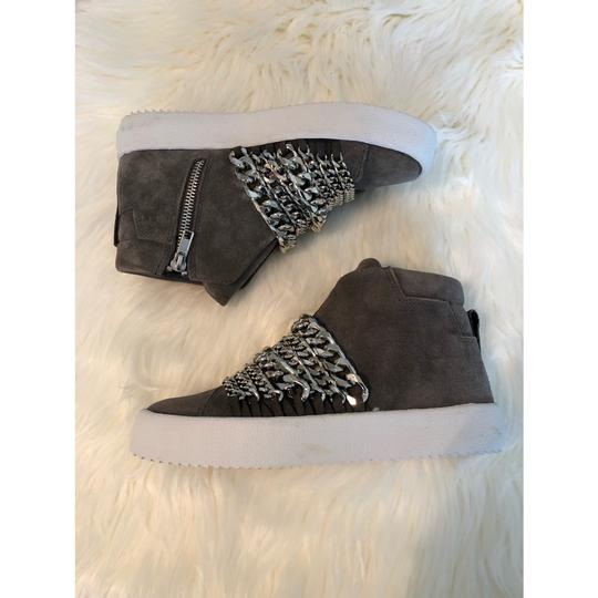 Kendall + Kylie gray suede Athletic Image 4