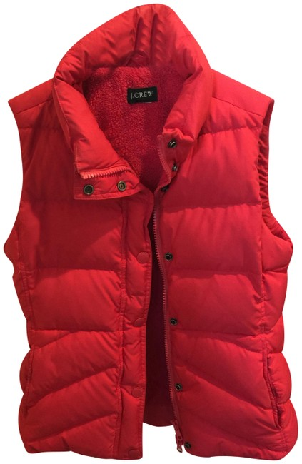 Item - Cherry/Orange Sherpa Lined Goose Down Puffer Vest Size 6 (S)
