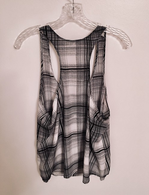 Mossimo Supply Co. Plaid Target Top Black & White Image 1