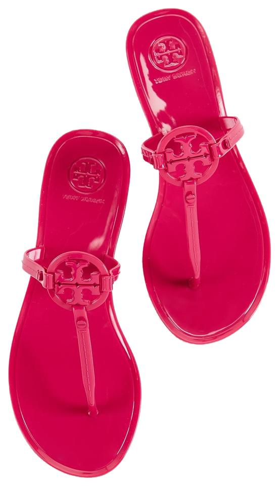 d2b0b0ccf2e Tory Burch Jelly Mini Miller Thong Women Pink Sandals Size US 7 Regular (M,  B)