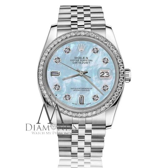 Rolex Women's 31mm Datejust Baby Blue MOP Mother Of Pearl Watch Image 1