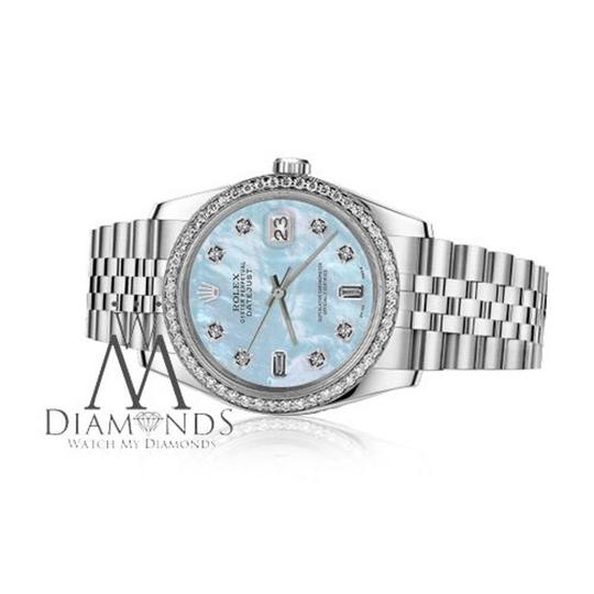 Rolex Women's 31mm Datejust Baby Blue MOP Mother Of Pearl Watch Image 3