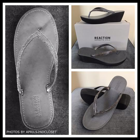 Kenneth Cole Reaction Grey, Silver Sandals Image 1
