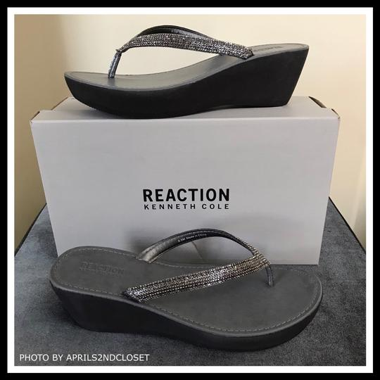 Kenneth Cole Reaction Grey, Silver Sandals Image 3