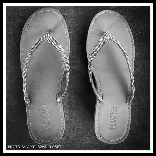 Kenneth Cole Reaction Grey, Silver Sandals Image 6