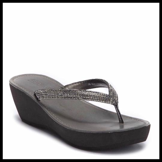 Kenneth Cole Reaction Grey, Silver Sandals Image 7