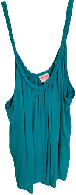 Preload https://img-static.tradesy.com/item/24432162/mossimo-supply-co-turquoise-braided-neckline-tank-topcami-size-12-l-0-1-650-650.jpg
