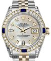 Rolex Ladies Rolex 26mmDatejust WhiteMOP Dial Sapphire Diamond Bezel Watch Image 0