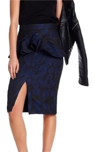 Kendall + Kylie Skirt Black and Blue