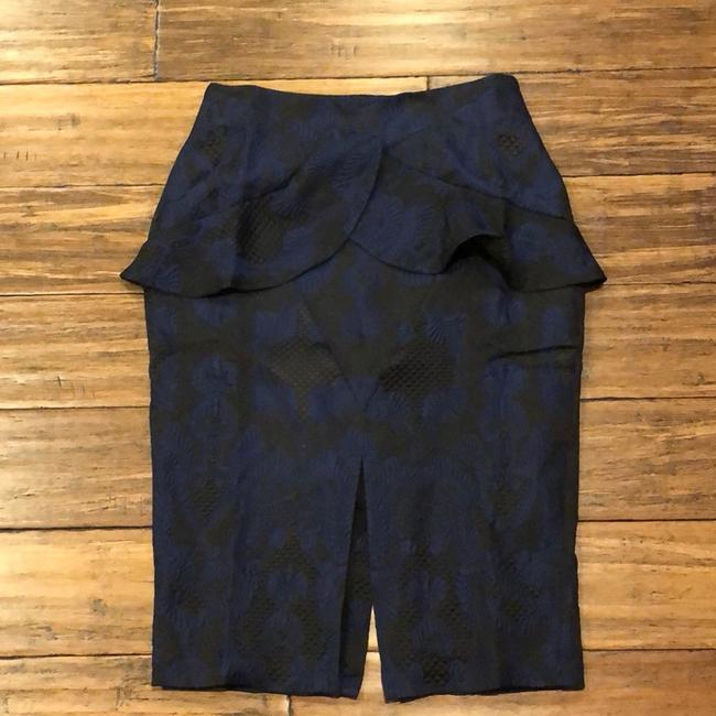 Kendall + Kylie Skirt Black and Blue Image 3