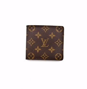 Louis Vuitton Mens Vintage Marco Monogram Canvas Leather Bifold Mens Wallet France