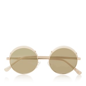 Le Specs Lux Jester Round-Frame Mirrored Sunglasses