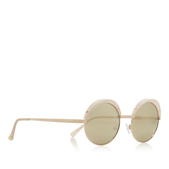 Le Specs Lux Jester Round-Frame Mirrored Sunglasses Image 1