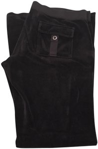 Juicy Couture Velour Sweatpants Relaxed Pants Black
