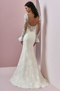 Maggie Sottero Ivory Tulle with Lace Bonnie Sexy Wedding Dress Size 8 (M)