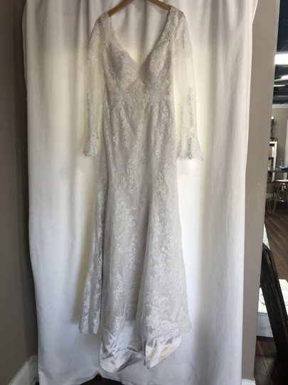 Maggie Sottero Ivory Tulle with Lace Bonnie Sexy Wedding Dress Size 8 (M) Image 2