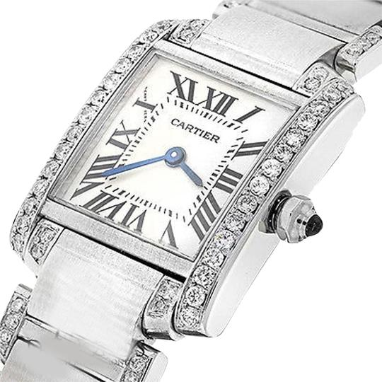 Preload https://img-static.tradesy.com/item/24432350/cartier-ladies-tank-w51008q3-with-natural-diamonds-stainless-steel-watch-0-1-540-540.jpg
