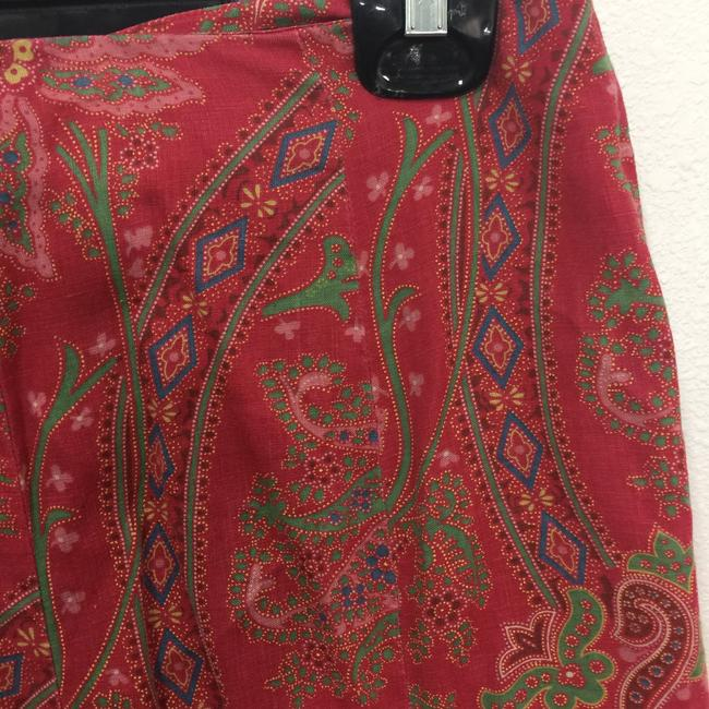 Ralph Lauren Black Label Fit And Flare Skirt Multi Color Paisely Print Image 2