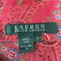 Ralph Lauren Black Label Fit And Flare Skirt Multi Color Paisely Print Image 3