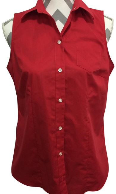 Preload https://img-static.tradesy.com/item/24432484/lands-end-red-sleeveless-no-iron-button-down-top-size-8-m-0-1-650-650.jpg