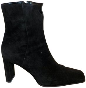 Anne Klein Ankle Leather Zipper Black Boots