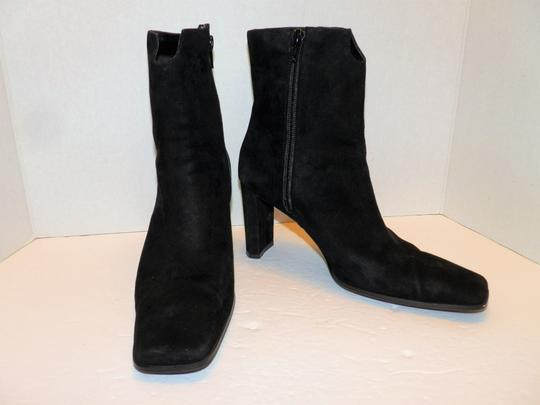 Anne Klein Ankle Leather Zipper Black Boots Image 1
