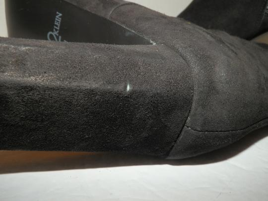 Anne Klein Ankle Leather Zipper Black Boots Image 11