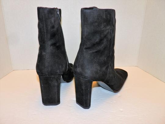 Anne Klein Ankle Leather Zipper Black Boots Image 2