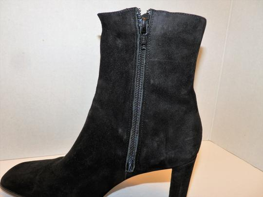 Anne Klein Ankle Leather Zipper Black Boots Image 4