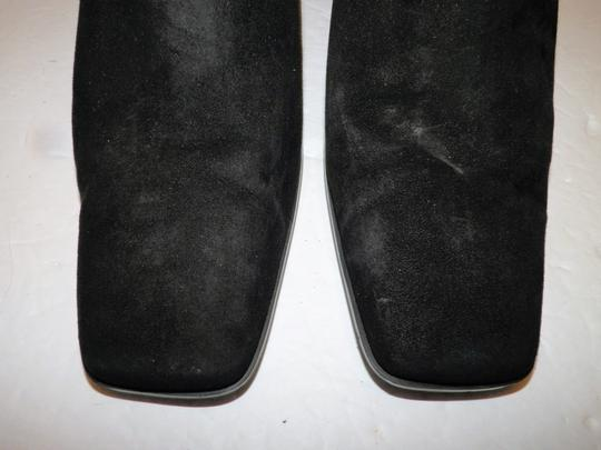 Anne Klein Ankle Leather Zipper Black Boots Image 6