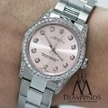 Rolex Diamond Ladies Oyster Perpetual Mid-size 31mm Pink Dial Watch 67480 Image 1