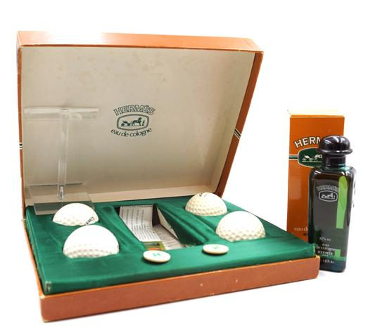 Preload https://img-static.tradesy.com/item/24432543/hermes-24411-extremely-rare-green-white-multicolor-limited-edition-eau-de-cologne-with-4-golf-balls-0-1-540-540.jpg