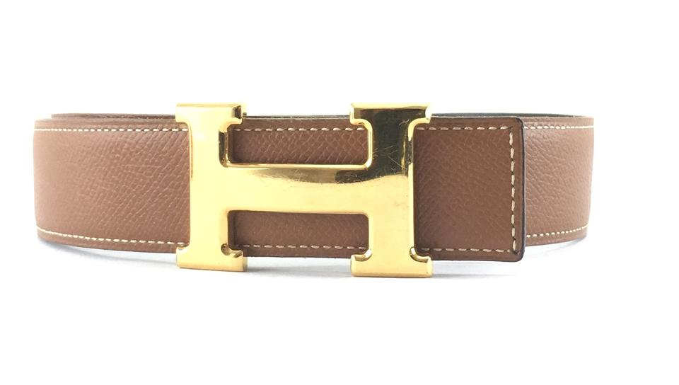 77b38f089aac5 Hermès  24413 Gold On Black 32mm Classic Reversible Leather Size 90 Belt