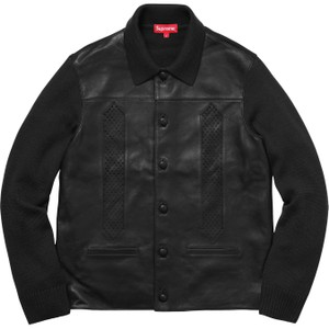 Supreme Streetwear Leather Skate Sweater