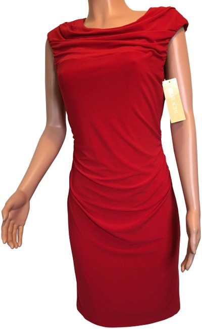 Item - Red 181830 Mid-length Cocktail Dress Size 10 (M)