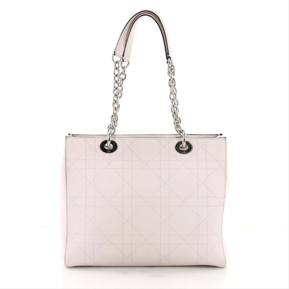 Dior Ultradior Stitched Cannage Grained Calfskin Medium Pink Leather Tote fda5d86d9ee4b