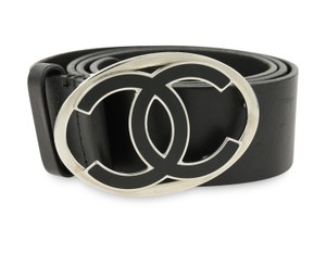 Chanel Leather Belt with Oval CC Buckle