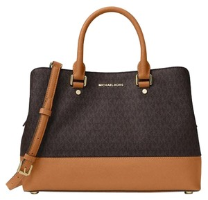 Michael Kors Savannah Tote Satchel in brown