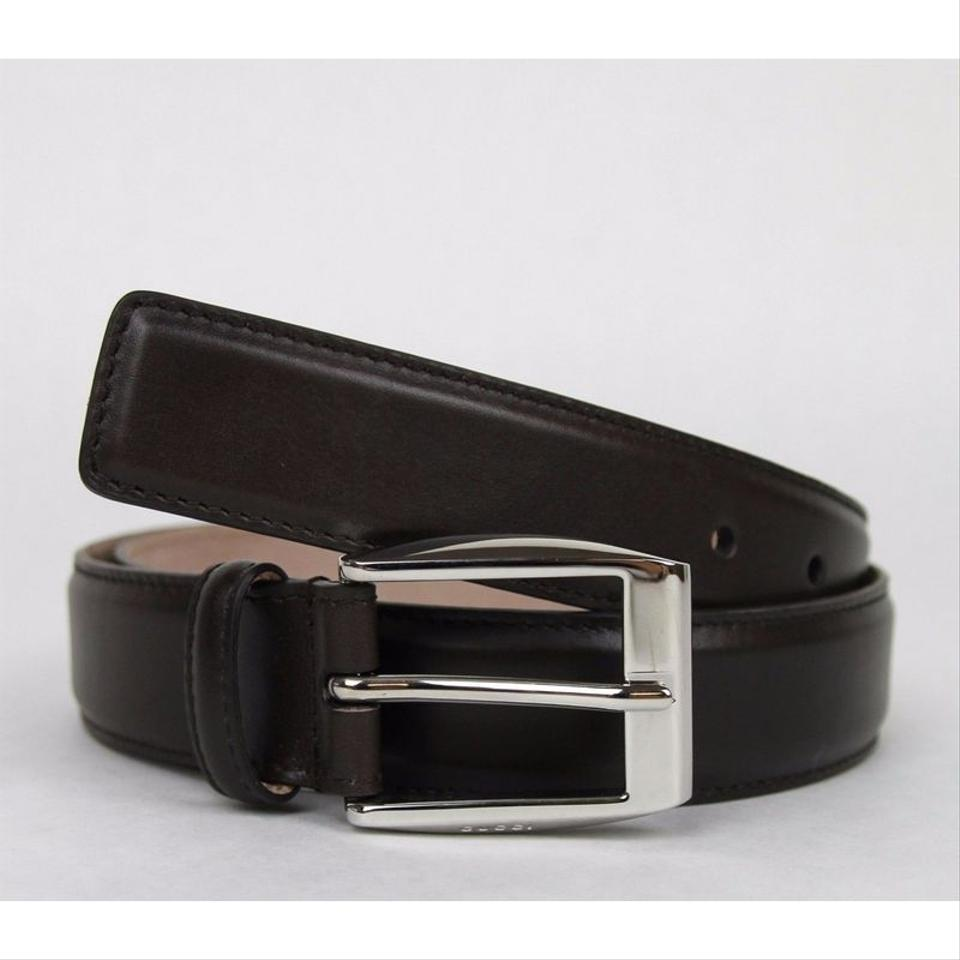 3ede11b46 Gucci Dark Brown Classic Leather Belt with Square Buckle 336831 2140  Groomsman Gift Image 0 ...