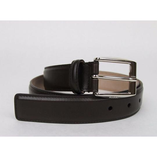 38bd9003e Gucci Dark Brown Classic Leather Belt with Square Buckle 336831 2140  Groomsman Gift Image 2