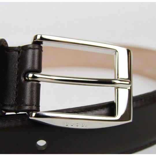 5054edd32 Gucci Dark Brown Classic Leather Belt with Square Buckle 336831 2140  Groomsman Gift Image 5