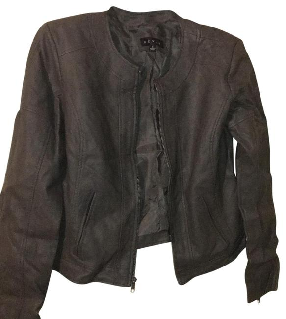 Item - Dark Grey Cropped Jacket Size 6 (S)