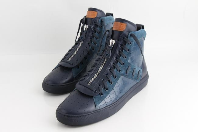 Item - Multicolor Men's Hekem Croc-embossed Leather High-top Sneakers Shoes