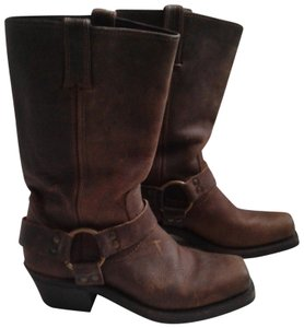 Frye Made In Usa Ankle Strap O-ring Studs Motorcycle Tan Boots