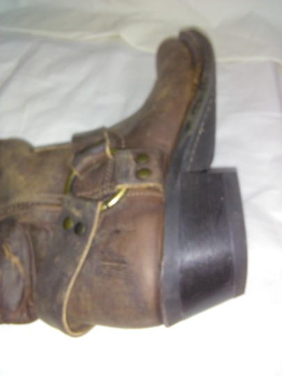 Frye Made In Usa Ankle Strap O-ring Studs Motorcycle Tan Boots Image 4
