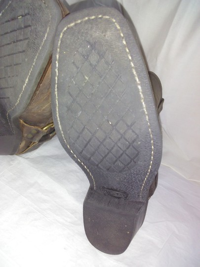 Frye Made In Usa Ankle Strap O-ring Studs Motorcycle Tan Boots Image 5